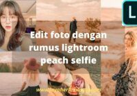 rumus lightroom peach selfie