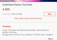 paket youtube unlimited 24 jam